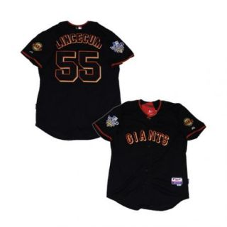 SF Giants 55 Lincecum World Series Black Jersey Sz M