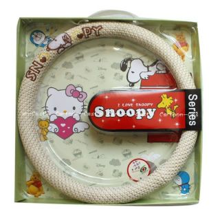 Peanuts Gang Snoopy Auto Car Steering Wheel Cover