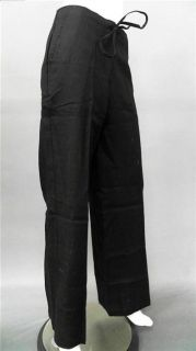 Lino USA Luxe Ladies Womens L Lightweight Casual Pants Black Solid