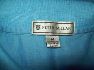 Millar Blue Cotton Polo Shirt Linville Golf Club Sz Medium M