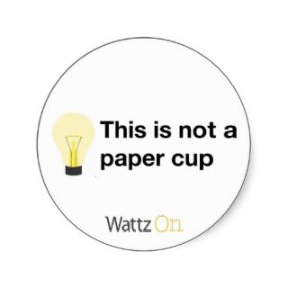 This is not a paper cup (sticker)