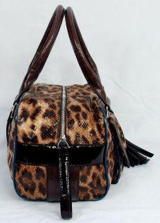 New Guess Lindsey Womens Brown Satchel Shoulder Bag Handbag