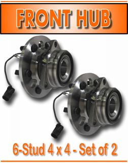 95 98 Chevy PU 4x4 6 Lug Front Wheel Hub Hubs Bearings