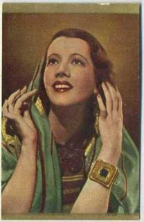 Lily Pons Vintage 1936 Danmarks Film Stars Trading Card 4