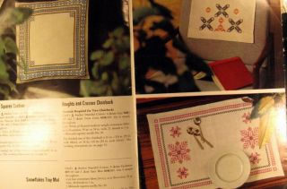 1960s Vintage Cross Stitch Pattern Booklet Table Linens