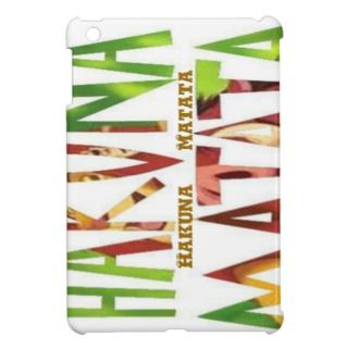 Hakuna Matata Savvy iPad Mini Glossy Finish Case iPad Mini Case