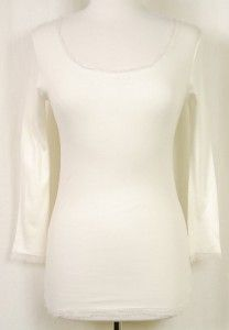 LINQ Silk Trim Modal Boat Neck Shirt Top