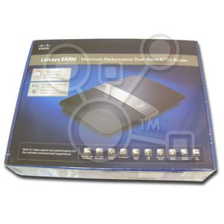 New in SEALED Box Cisco Linksys E4200 Dual Band N750 Wireless Router 4