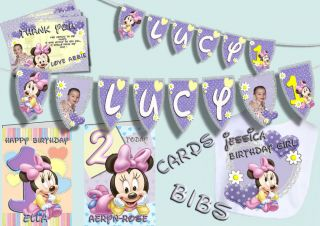 Deluxe Personalised Baby Minnie Mouse Lilac 1st Birthday Party