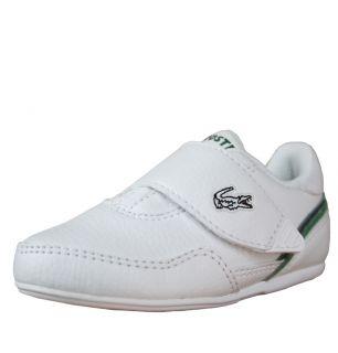 Lacoste Lisse NDK SPI Infants Strap Trainer SS12 White Green