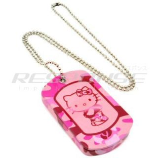 Dog Tag Cherry/Vanilla Ice Cream Lip Gloss Tin Case PINK Cute Sanrio