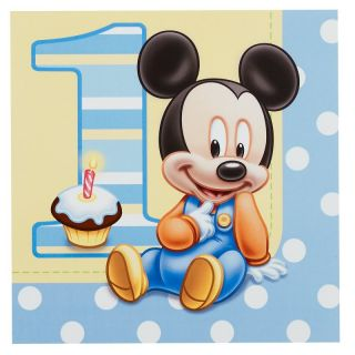 Mickey Mouse 1st First Birthday Party Pack for 16 Partyware Party