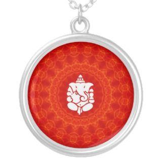Lord Ganesha on Mandala Necklace