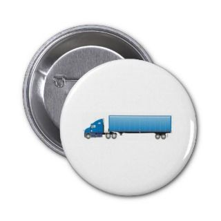 Semi Truck Trailer Blue Buttons