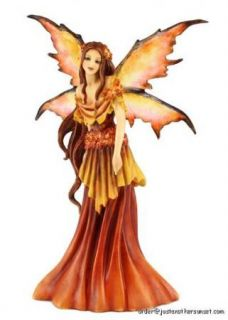 Amy Brown Autumn Queen Seasons Statue Fairy Figurine Faery Fall Red