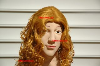 halloween disguise foam latex full head Female Maskbeauty Mask    Lisa