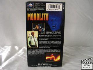 Monolith VHS Bill Paxton Lindsay Frost John Hurt 096898182331
