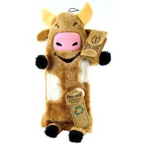 Kyjen Plush Puppies Water Bottle Buddies Dog Toy Cow