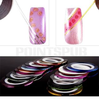 18 Colors Nail Art UV Gel Tips Striping Tape Line Decoration