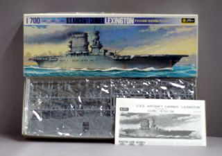 Fugimi Water Line Series Model Kit WW2 Lexington US Aircraft Carrier 1