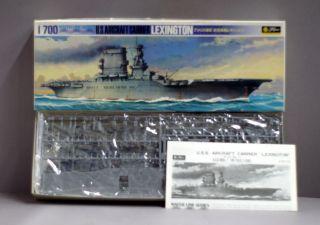 Fugimi Water Line Series Model Kit WW2 Lexington US Aircraft Carrier 1