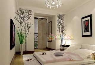 Wall Decor Decal Sticker Vinyl Large Birch Tree Trunk
