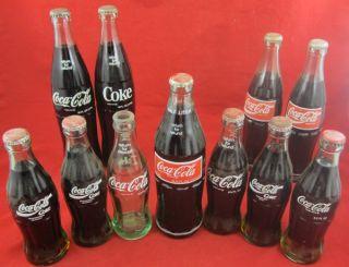COCA COLA COKE BOTTLES Mexico Brazil Germany 6.5 Ounce Half Liter Size