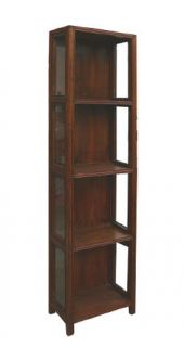 Chinese Elm Wood Glass Narrow Display Cabinet WK2012