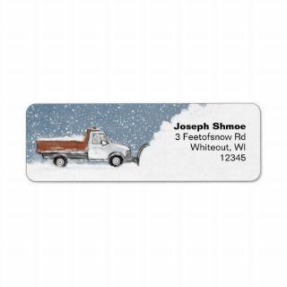 Snow Plow Reurn Address Labels