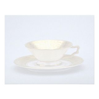 20th century tea cup and saucer, Bavaria, Germany Letterhead Template