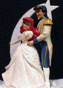Little Mermaid Prince Disney Wedding Cake Topper Top 1