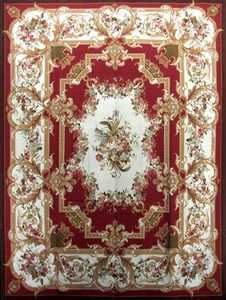 Pad 9 x 12 French Handmade Hand Knotted Aubusson Area Rug Carpet S156