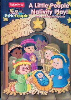 Fisher Price Little People Nativity Play Kids Christmas Coloring