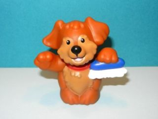 Fisher Price Little People Garage Car Wash Puppy Dog with Brush