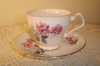 Royal Imperial Bone China Pink Rose Cup Saucer