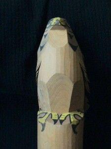 Japan Japanese Artisan Hand Carved Wood Hawk Bird Sculpture Signed
