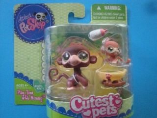 Littlest Pet Shop LPS Cutest Pets Baby and Mommy Monkey 2670 2671 New