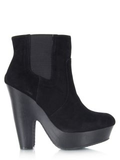 New Bamboo Women Casual Platform High Heel Ankle Boot Booty Sz Black