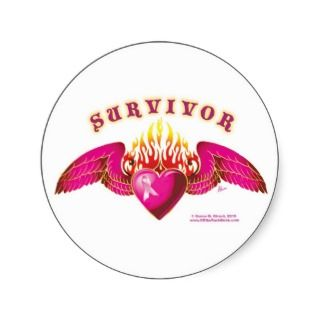 Breast Cancer Survivor Logo Round Sticker