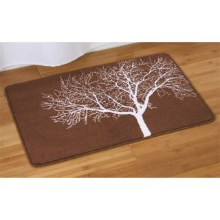 New Bathroom Brown Tree Branchy Bath Mat Shower Rug
