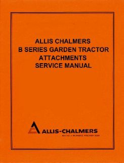 Allis Chalmers B 212 Garden Tractor Service Manual Set