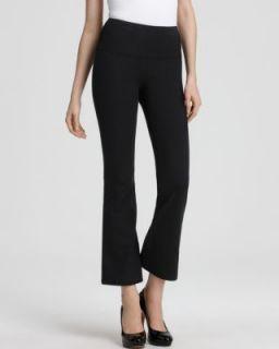 Lisse Leggings New Black Stretch Knit Wide Band Waist Wide Leg