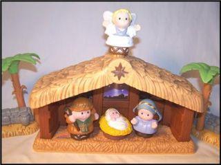 Fisher Price Little People Christmas Story Nativity Set Lights Sound