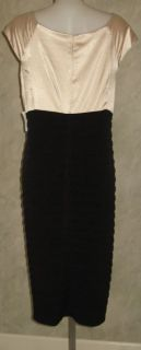 London Times Black Champagne Dress Plus Sz 22W $99