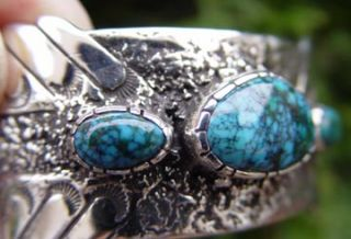 Lone Mountain Spiderweb Natural Turquoise Bracelet