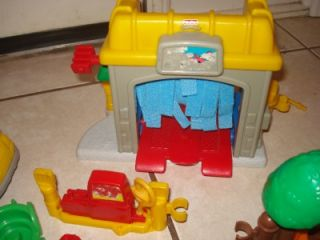 Fisher Price Little People Car Wash Cars Figures Animals 50 PC Lot
