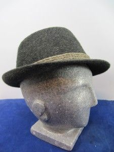 Charcoal Gray Mohair Fedora Bucket Hat Littler Habig Austria 22