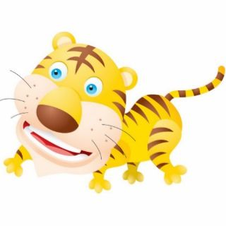 Baby Tiger Photosculpture Photo Cut Outs