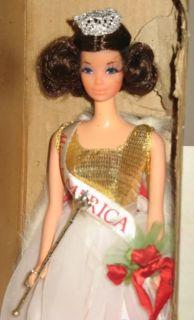 Vintage 1972 Barbie Walk Lively Miss America Kelloggs Promotional Doll