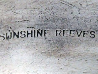 Sunshine Reeves –Lone Mountain Turquoise Stamped Band